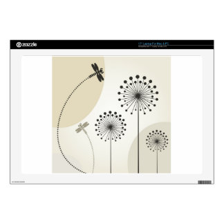 Dragonfly on a flower laptop skin