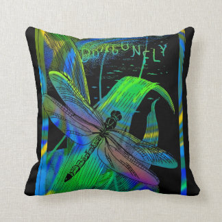 Dragonfly On Black Pillow