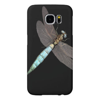 Dragonfly on Black Samsung Galaxy S6 Cases
