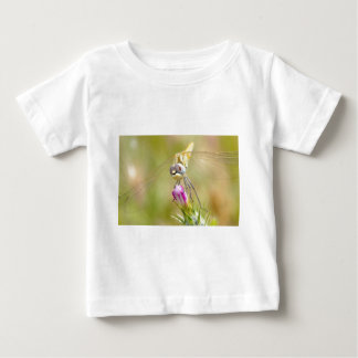 Dragonfly on flower t shirt