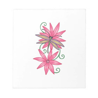 DRAGONFLY ON FLOWERS NOTE PADS
