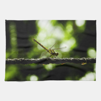 Dragonfly on green - Kitchen Towel