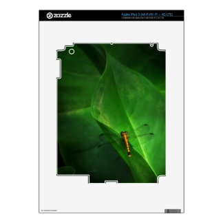 Dragonfly on Green Leaf Decal Skin Skin For iPad 3