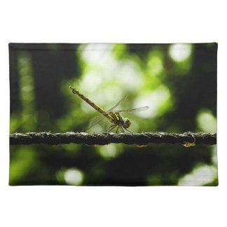 Dragonfly on green - Placemats