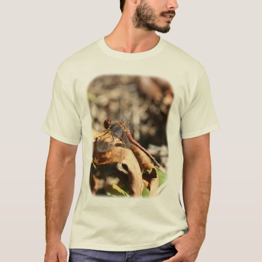 Dragonfly On Leaf Nature T-Shirt