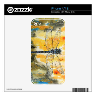 Dragonfly on my Window Decals For iPhone 4