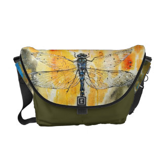 Dragonfly on my Window Messenger Bags