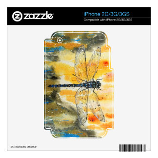 Dragonfly on my Window iPhone 3GS Skins