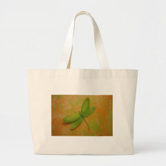 Dragonfly on the Wall Large Tote Bag