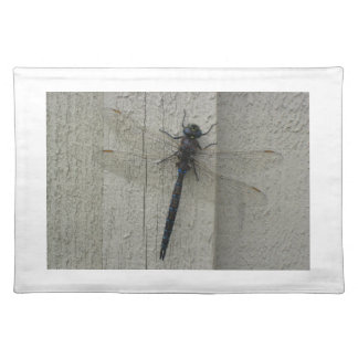 Dragonfly on White Wood Place Mats