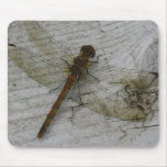 Dragonfly on Wood Mouse Pad Mousepad