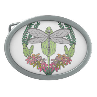 Dragonfly Oval Belt Buckle