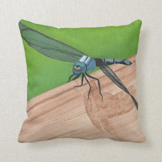 Dragonfly Painting Pillow by CherylsArt