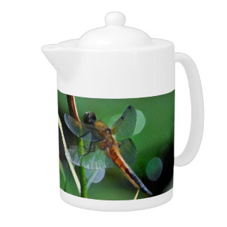 Dragonfly Painting Teapot