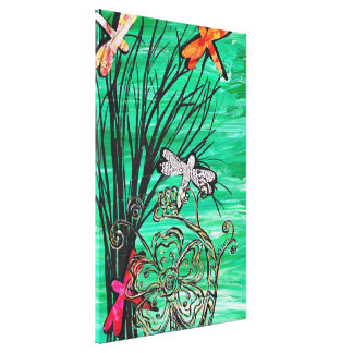 Dragonfly Park Gallery Wrapped Canvas