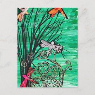 Dragonfly Park Postcard postcard