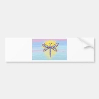 Dragonfly - Pastel horizontl Bumper Sticker