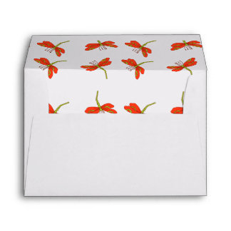 Dragonfly pattern envelope