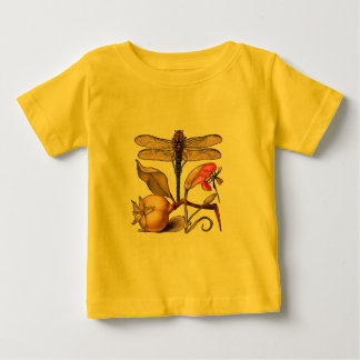Dragonfly, Pear, Carnation, and Insect Baby T-Shirt