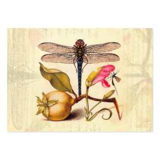 Dragonfly, Pear, Carnation, and Insect Large Business Cards (Pack Of 100)