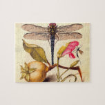 Dragonfly, Pear, Carnation, and Insect Jigsaw Puzzle