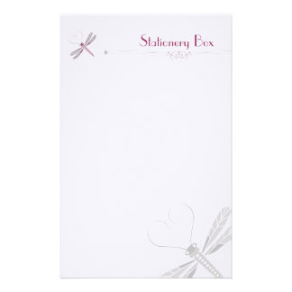 Dragonfly Personal Note Paper Custom Stationery