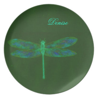 Dragonfly Personalized Place Setting Party Plates