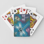 """Dragonfly Playing Cards<br><div class=""""desc"""">Cute little dragonflies flying in lazily circles on an autumn day.</div>"""