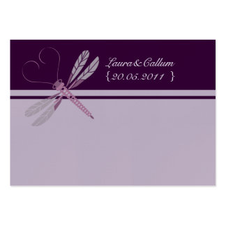 """Dragonfly """"Plum"""" Place Cards Large Business Cards (Pack Of 100)"""