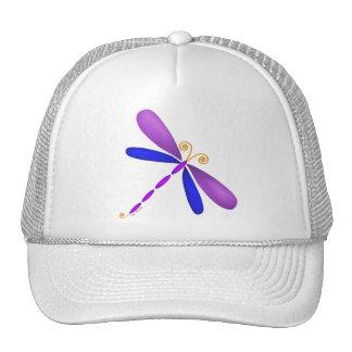 Dragonfly-purple blue hat