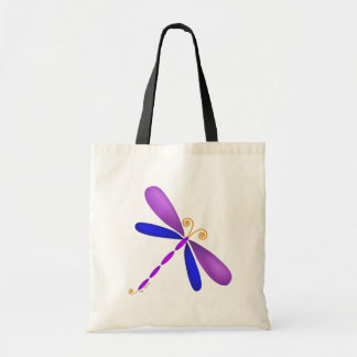 Dragonfly-purple/blue Tote Bag