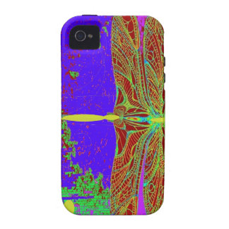 Dragonfly Purple Dreamscape  Fantasy by Sharles iPhone 4 Case