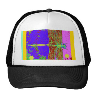 Dragonfly Purple Dreamscape Fantasy by Sharles Mesh Hats