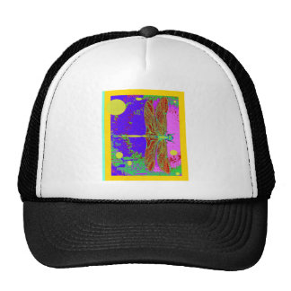 Dragonfly Purple Dreamscape  Fantasy by Sharles Trucker Hat