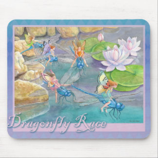 Dragonfly Race Mouse Pad