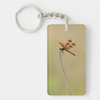 Dragonfly Rectangle Keychain