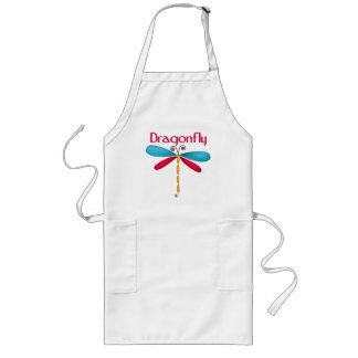 Dragonfly - red/teal aprons