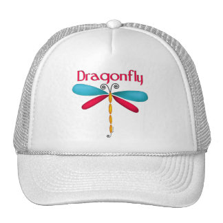 Dragonfly - red/teal hat