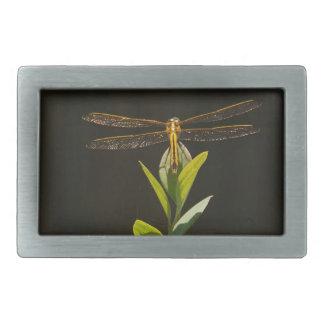 Dragonfly Resting on Blueberry Bush Belt Buckle