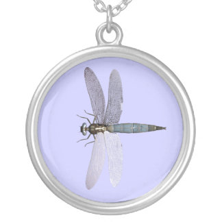Dragonfly Round Pendant Necklace