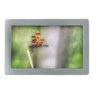DRAGONFLY RURAL QUEENSLAND AUSTRALIA ART EFFECTS RECTANGULAR BELT BUCKLE