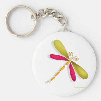 Dragonfly-rust/green Key Chains