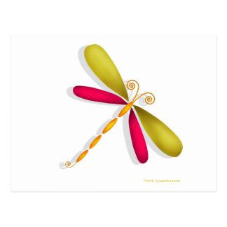 Dragonfly-rust/green Postcard