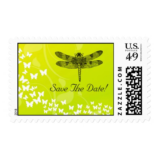 Dragonfly Save The Date Postage Stamp