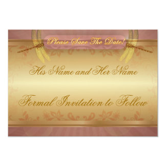 """Dragonfly Save the Date Reminder (customise) 5"""" X 7"""" Invitation Card"""