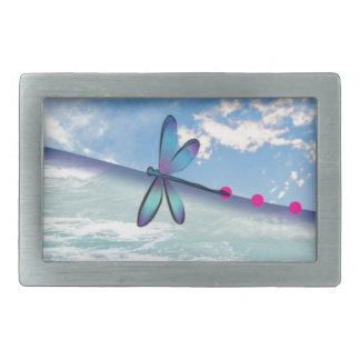 dragonfly-sea-sky rectangular belt buckle