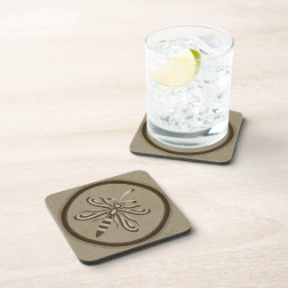 Dragonfly Sepia Beverage Coaster