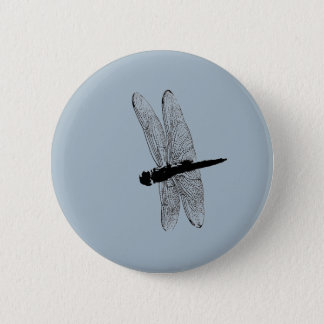 Dragonfly Silhouette Button