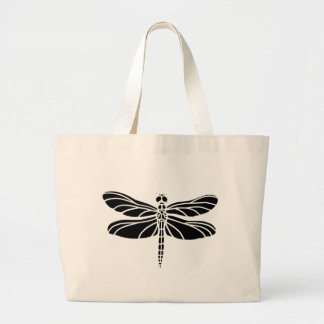 Dragonfly Silhouette Large Tote Bag