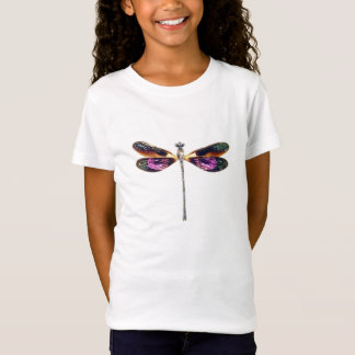Dragonfly - silver, gold, purple and black T-Shirt